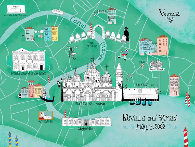 veneza canais passeio de gondola mapa pontos turisticos
