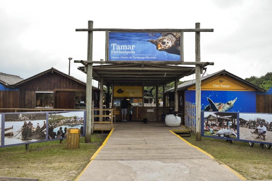 projeto tamar em florianópolis entrada do centro de visitantes museu