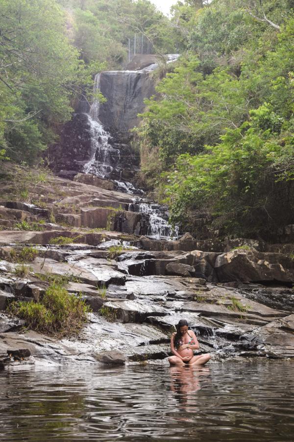 viajar grávida cachoeira