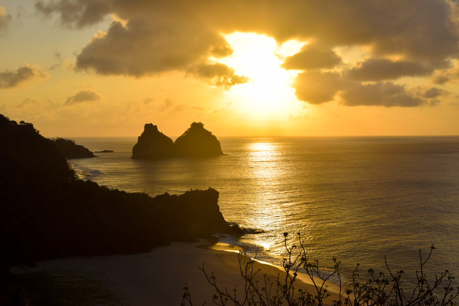 Fernando de Noronha - Por do sol no fortinho do Boldró