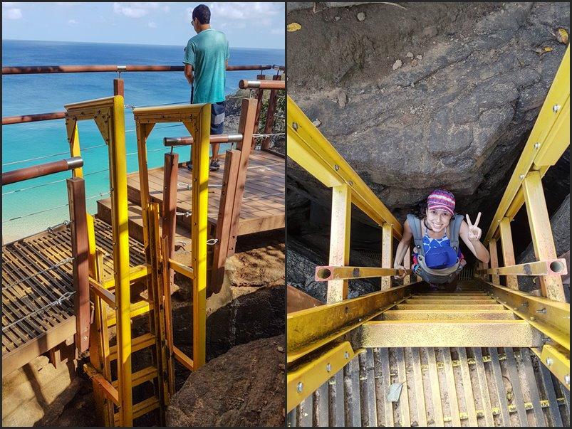 Escadaria do Sancho - É possivel sim descer com bebês