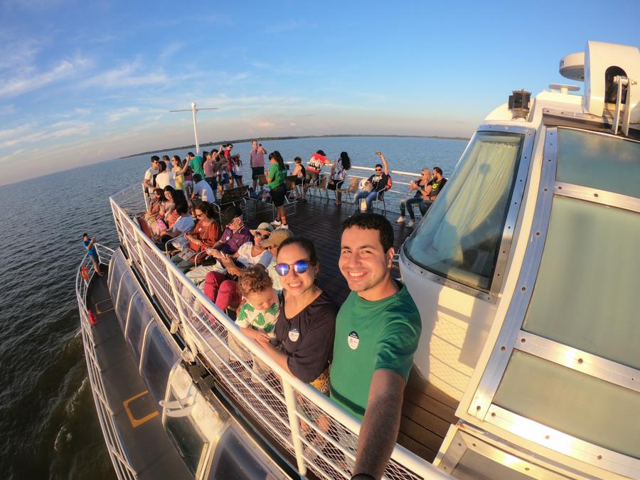 foz do iguaçu usina itaipu binacional passeio turismo por do sol do kattamaram catamaram