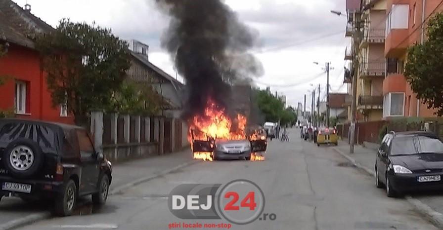 incendiu masina Gherla