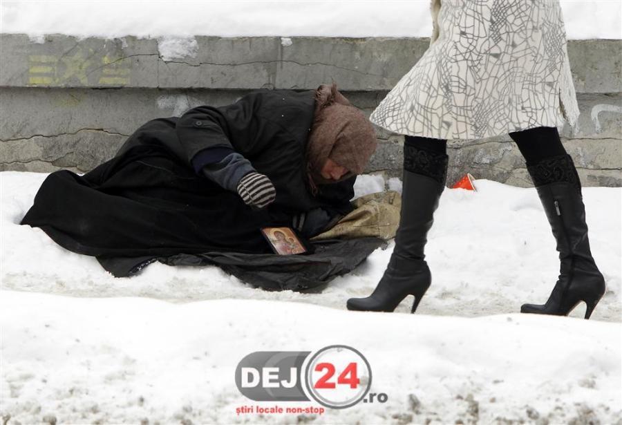 persoane fara adapost dej gherla Cluj frig zapada