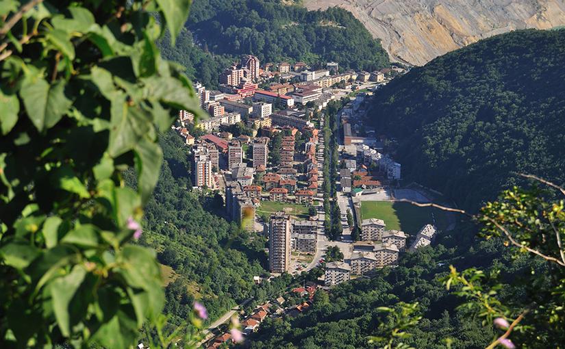 Majdanpek aerial view