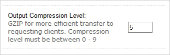 Compression level
