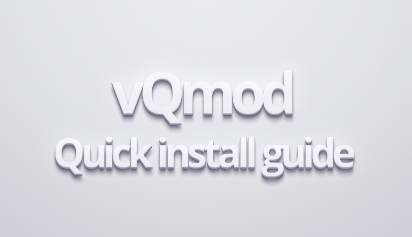 vQmod quick install guide
