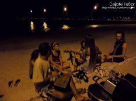 Nochecita frente al mar.
