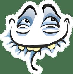 Ahhh Smiling Troll Face Meme Sticker