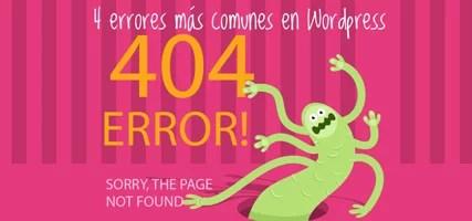 Errores Comunes WordPress – Los 4 Errores Que Pueden Ocurrir