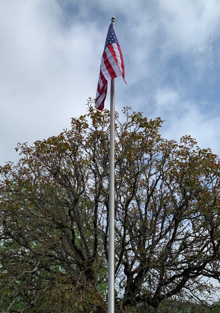 New flag on pole