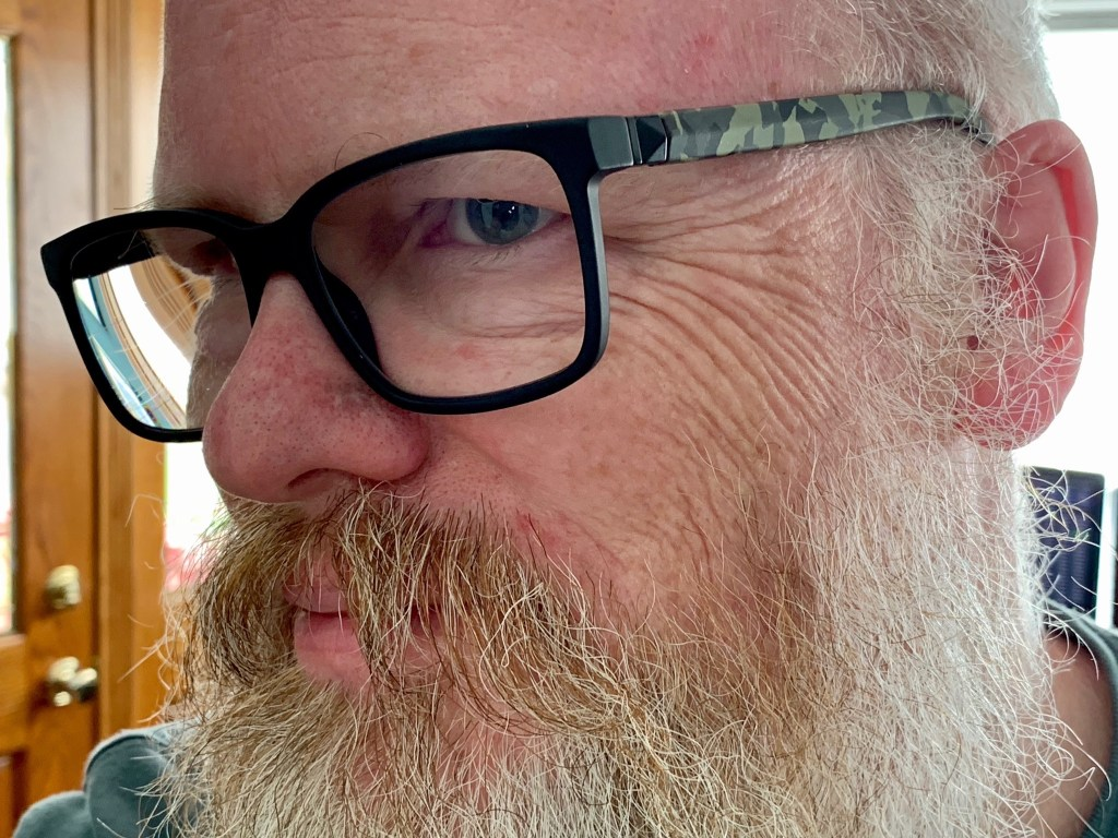 David's new glasses