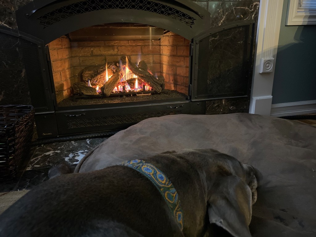 Fireplace and Rory