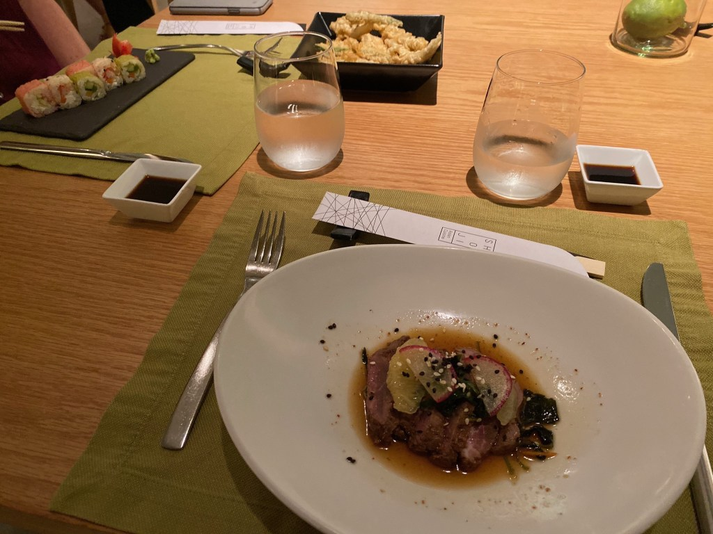 Asian fusion food at resort