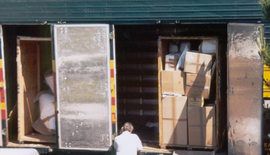 Crates of possessions