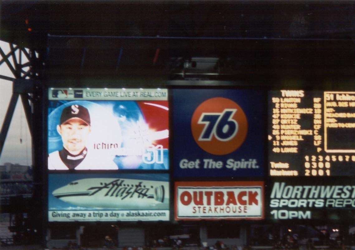 Mariners scoreboard in 2001