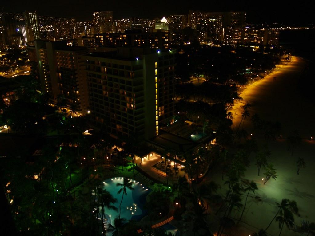 Resort etc at night