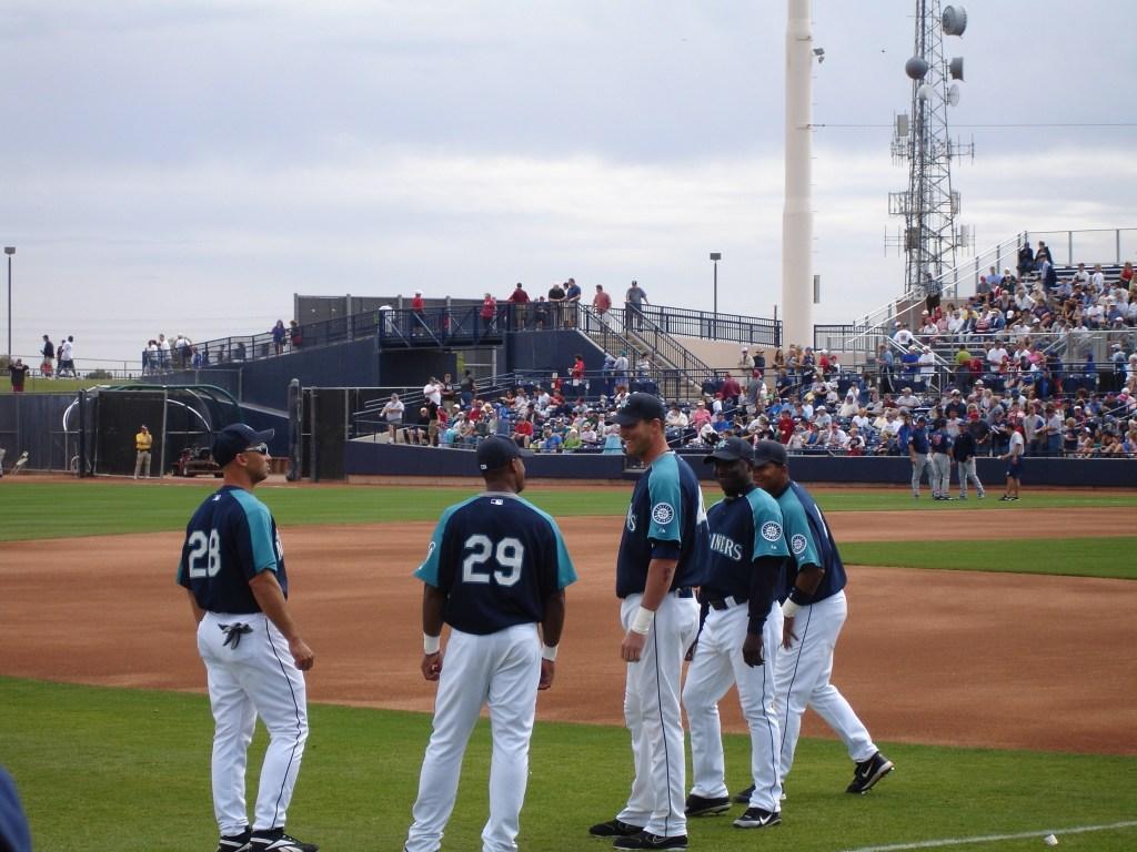 Mariners standing around