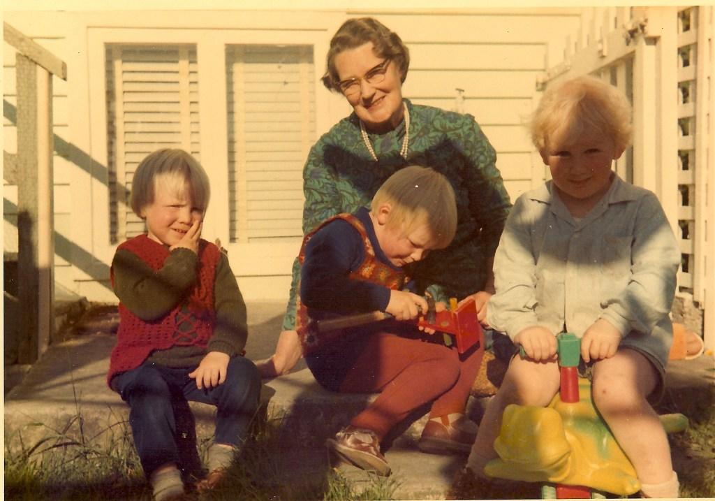 Neville, Grandma, David, Alan