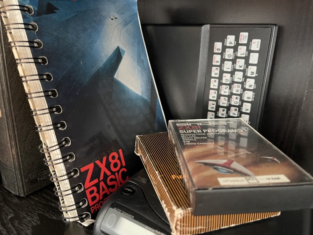 ZX81, manual, cassette tapes