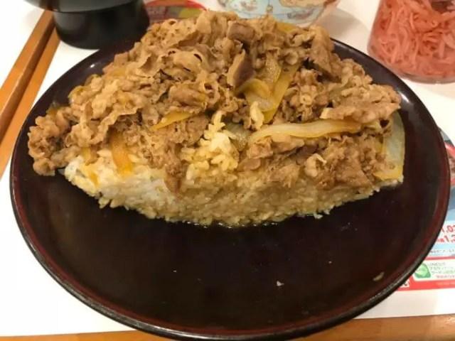 牛丼7サイズ検証牛丼キング