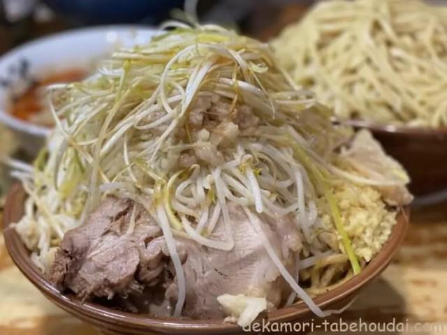 ラーメン二郎八王子野猿街道店汁なしドクロ麺増し大食い
