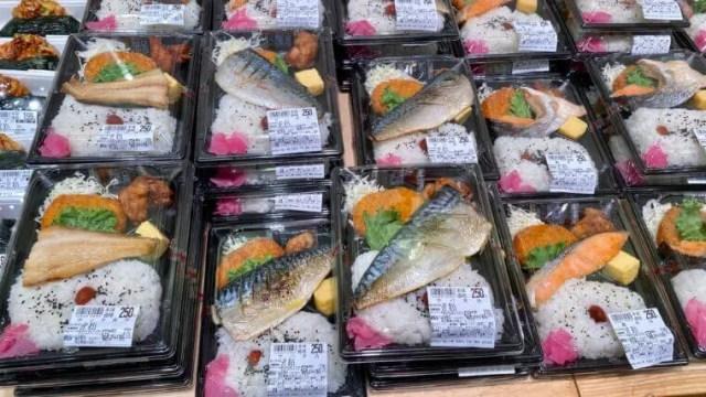 スーパーMARUSAN桶川店250円弁当陳列