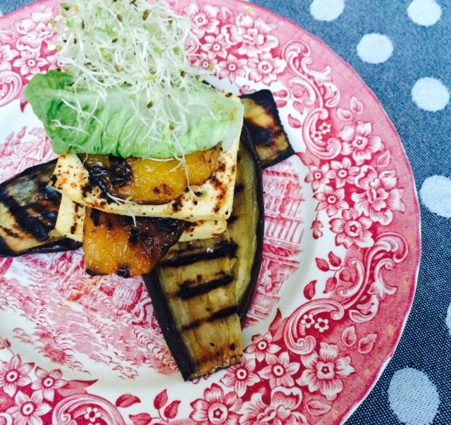 Aubergine lasagne met tofu