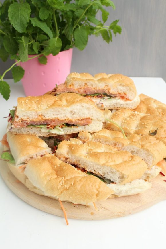 turks brood met gerookte zalm