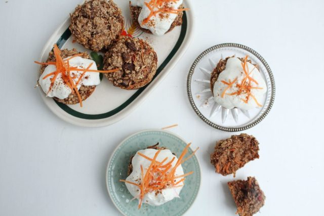 Healthy carrotcake tussendoortje