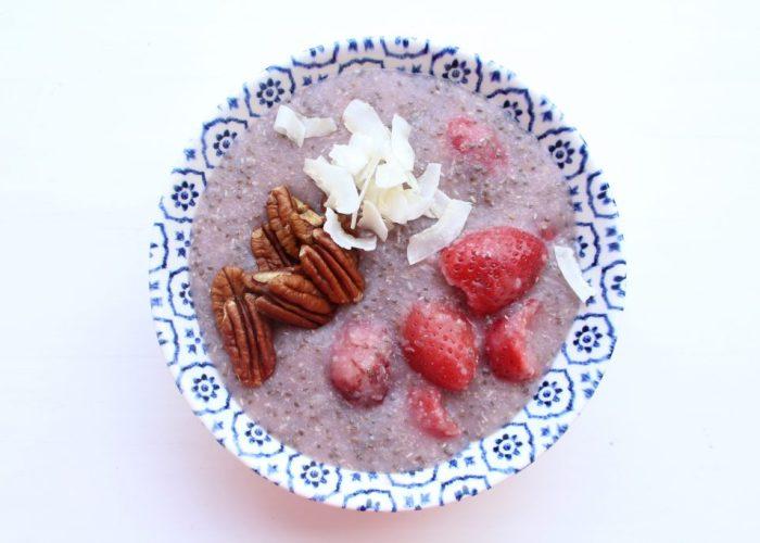 Boekweit & aarbeien ontbijt