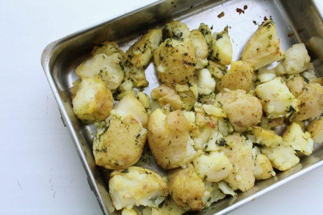 Geplette aardappels