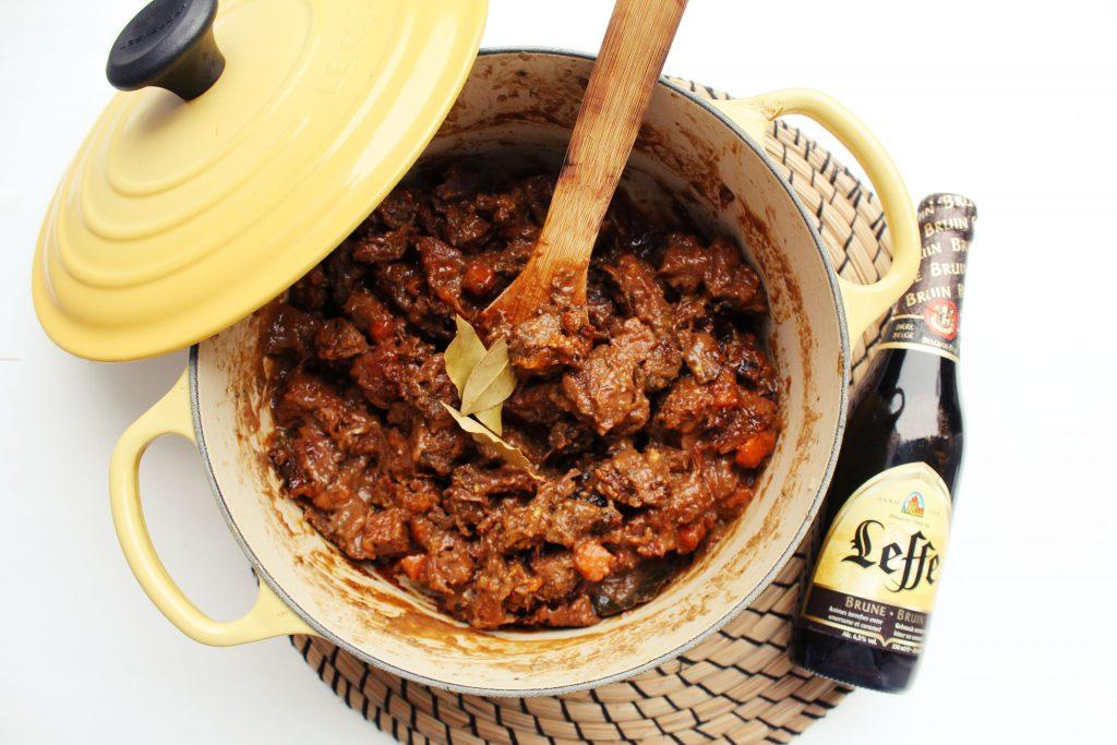 Stoofvlees met Leffe bruin