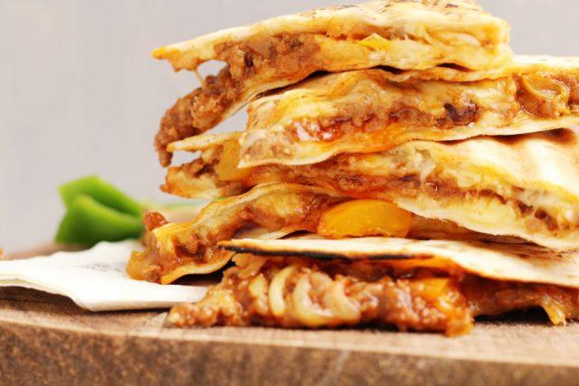 quesadilla met gehakt