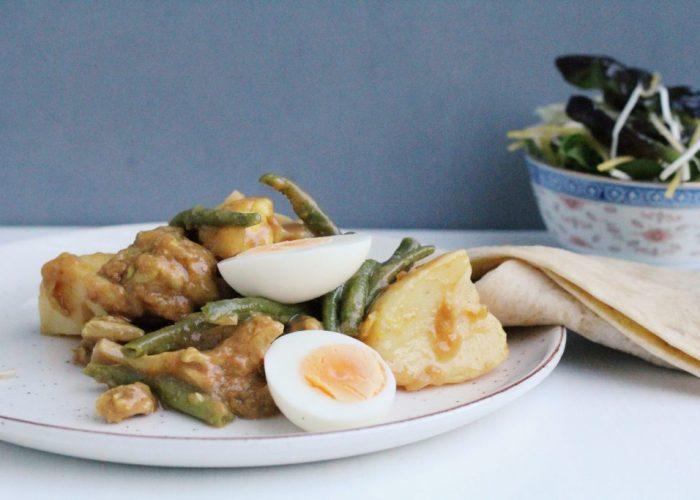 Recept voor roti met kip