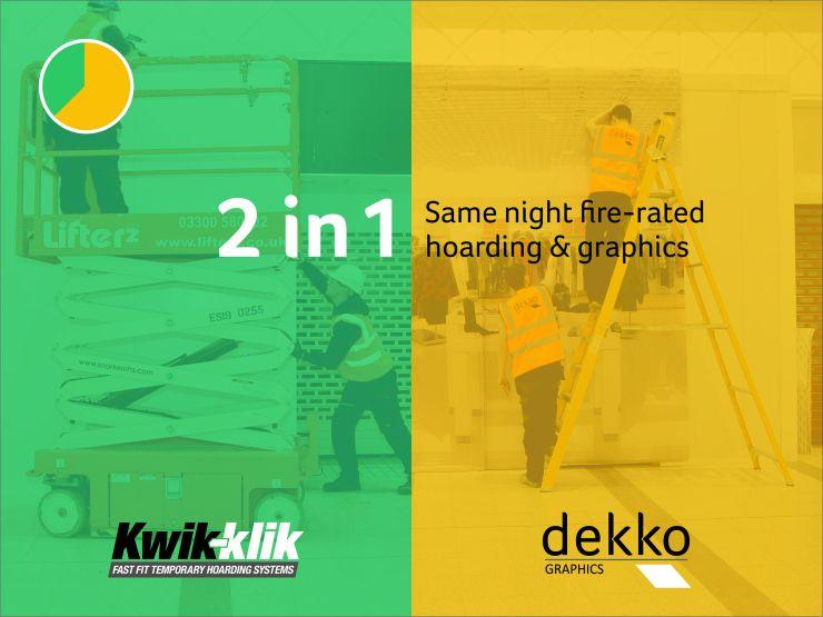 Installed by Kwik-Klik and Dekko Graphics