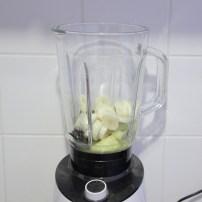 lactosevrije ananassmoothie in de blender