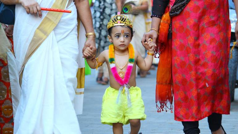 Janmashtami-Celebrations-Shobha-Yatra-Child-Krishna
