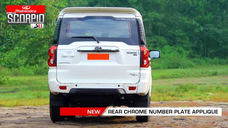 All-New-Mahindra-Scorpio-Facelift-S11-Rear-Chrome-Number-Plate-Applique