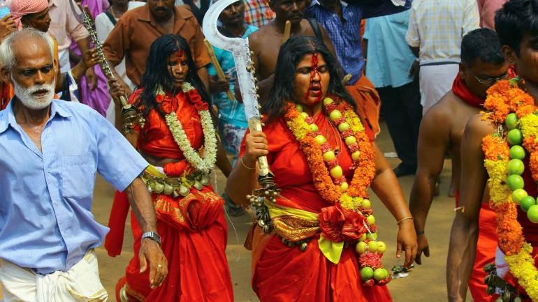 Oracles(Velichappadu-or-Komaram)-at-Kodungallur-Bhagavathy-Temple-Kodungallur-Bharani-Festival-Kerala-Festival-Photos-De-Kochi, Kodungallur Bharani