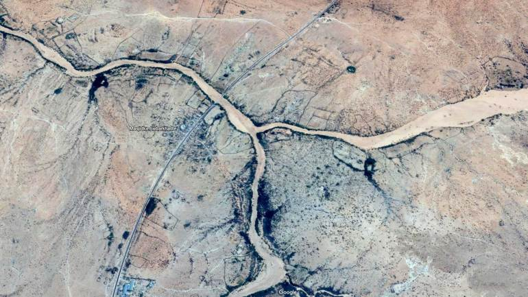 Google-map-image-of-river-that-crossing-the-Hargeisa-Berbera-highway