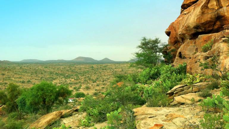 Landscape-near-Laas-Geel-cave,-Hargeisa-Somaliland