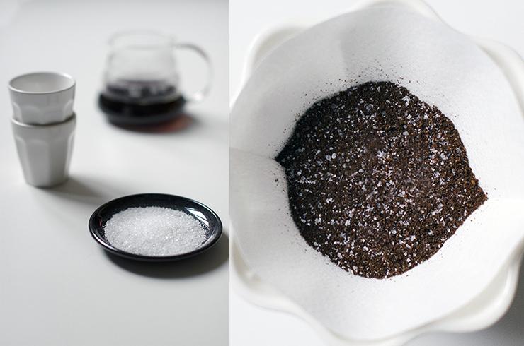 Afbeeldingsresultaat voor koffie met zout