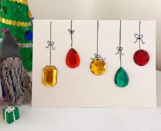 Einfache Weihnachtskarte Mit Kindern Basteln DekoKing
