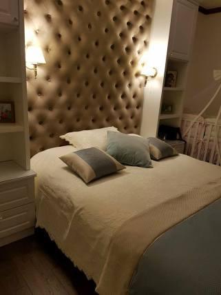 Panou decorativ in dormitor