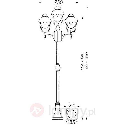 Albert Leuchten latarnia 698 W 4001700