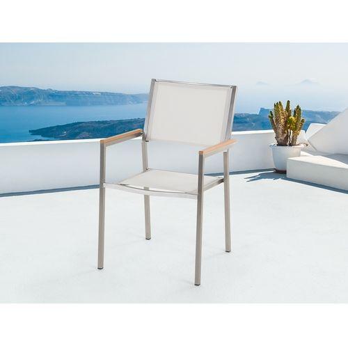 Beliani biale krzeslo ogrodowe GROSSETO