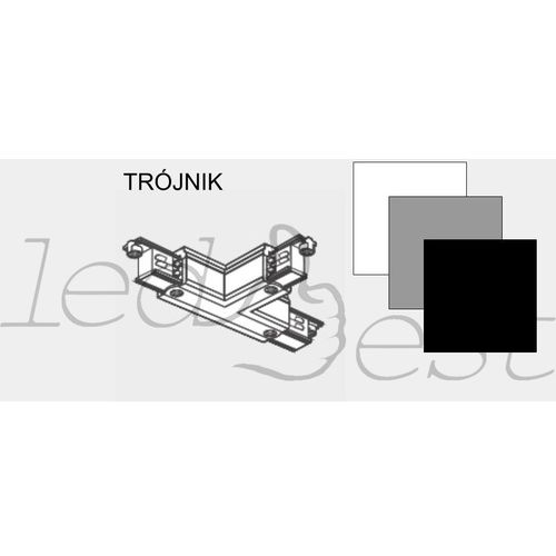 Trójnik do szyno-przewodu biały/czarny/szary SK-TB