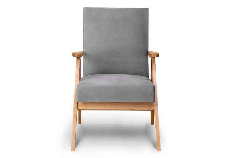 Fotel NASET szary/jasny dąb