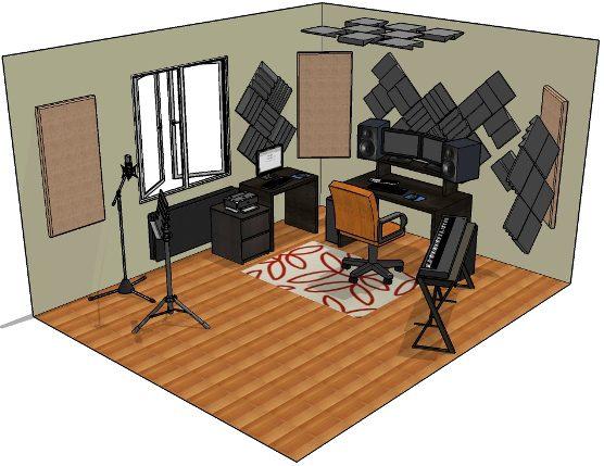 ev stüdyosunda oda akustiği